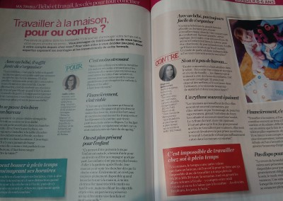 Interview pour le magazine Parents d'octobre 2018